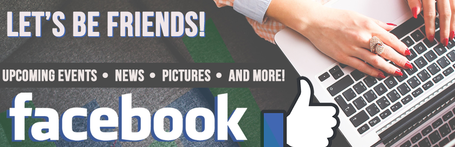 Be our friends on Facebook!